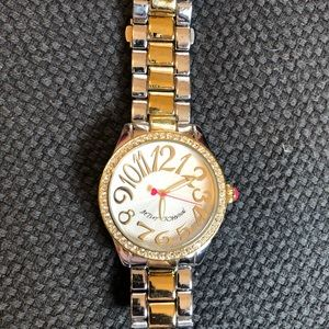 Betsey Johnson two toned watch.